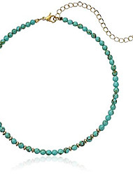 cheap -still surprise you turquoise and gold choker necklace