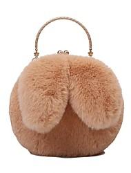 cheap -Women's Bags Crossbody Bag Top Handle Bag Date Fur Bag 2021 MessengerBag White Black Blushing Pink Khaki