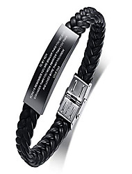 cheap -to my son gift from dad always remember leather bracelets birthday graduation anniversary inspirational gift for men boy