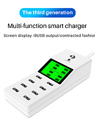 cheap -WINHOW Universal 8 Ports Milti-function Smart USB Charger LED Display 8A Multiple Wall Adapter HUB Adapter Socket Fast Charging For Mobile Phone Tablet PC