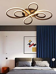 cheap -1-Light Geometrical Ring Dimmable Flush Mount Lights Ceiling Lights Linear Painted Finishes Aluminum Silica gel Hanging Lamp with Remote Control
