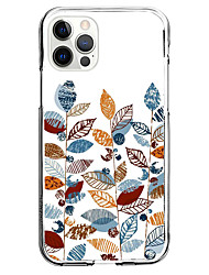 cheap -Stripes Leaf Case For Apple iPhone 12 iPhone 11 iPhone 12 Pro Max Unique Design Protective Case Shockproof Back Cover TPU