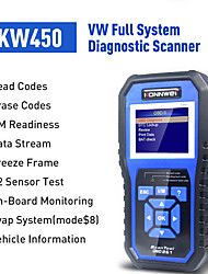 cheap -KONNWEI KW450 OBDII Scanner Code Reader Engine Fault Reader Erase/Reset Fault Codes Diagnostic Scanner for VW Audi Skoda