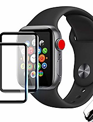 cheap -[2 pack] for iwatch screen protector series 6/5/4/se 44mm, apple watch ultra hd transparent protective film [no bubble] [anti-scratch] [hd clarity] [easy install] for most cases