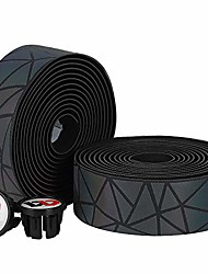 cheap -handlebar tape for road bike, eva foam self-adhesive cycling bar wraps, non-slip bar tape with 2 end caps and 2 finishing tape, grip tape for handlebars/steering bars/strollers(2 rolls)