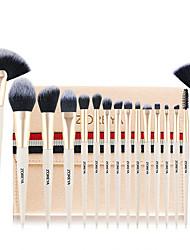 cheap -Professional Makeup Brushes 16pcs Soft Full Coverage Artificial Fibre Brush Plastic for Makeup Brush