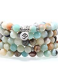 cheap -8mm 108 mala beads charm bracelet for men women yoga bracelet necklace father's day