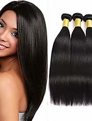 cheap -brazilian virgin human hair straight human hair bundles 3pcs/lot virgin human hair 3 bundles natural color (16 18 20 inch)
