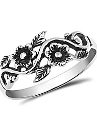 cheap -blooming wild floral vine .925 sterling silver band ring (5)