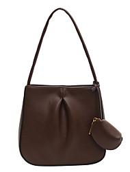cheap -Women's Bags PU Leather Top Handle Bag 2 Pieces Purse Set Lace Zipper Plain 2021 Daily Date Black Blue Army Green Khaki