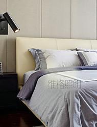 cheap -LED Nordic Style Flush Mount wall Lights Black White Bronze Living Room Iron Wall Light 220-240V