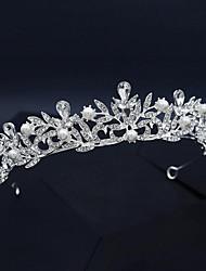 cheap -Headband Vintage Imitation Pearl / Rhinestone / Alloy Crown Tiaras / Headbands with Imitation Pearl / Crystal / Rhinestone / Split Joint 1 PC Wedding / Party / Evening Headpiece