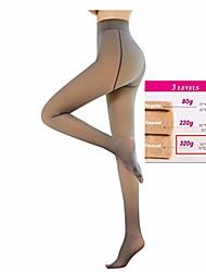 cheap -ladies tights plush stockings perfect legs slimming fake translucent warm fleece pantyhose - warming thermal tights for women (waist: 60-90cm, coffee / 330g)