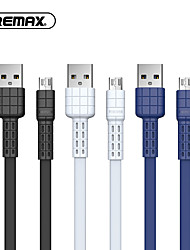cheap -Remax Micro USB Cable 2.4 A 1.0m(3Ft) Flat PVC(PolyVinyl Chloride) USB Cable Adapter For Samsung / Huawei / Xiaomi