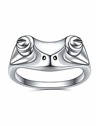 cheap -sterling silver frog rings for women vintage cute animal finger ring silver fashion party jewelry gifts