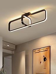 cheap -48/58/78 cm LED Ceiling Light Modern Black Gold Geometric Shapes Porch Light Flush Mount Lights Metal Painted Finishes 220-240V