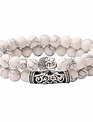 cheap -5-8mm beads bracelet mixed natural gemstone chip buddha head pendant bracelets healing reiki for men womenby yanwuuh
