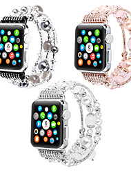 cheap -Watch Band for Apple Watch Series 6 / SE / 5/4 44mm / Apple Watch Series 6 / SE / 5/4 40mm / Apple Watch Series 3/2/1 38mm Apple Jewelry Design PC Wrist Strap