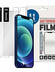 cheap -screen protector film [2pack] compatible with iphone mini 5.4 inch (2020). shatterproof,hd clarity,easy installation,case friendly, and protects screen scratches.