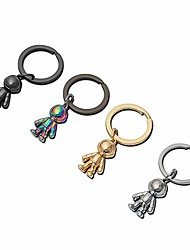 cheap -(4pcs) astronaut keychain pendant keyring - space robot car key holder,bag charm,cool keychain charm gife for man and women