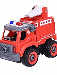 cheap -diy disassembly remote control fire truck with sound diy fire truck take apart toys-electric drill-converts to remote control car
