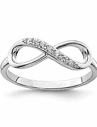 cheap -925 sterling silver cubic zirconia cz infinity band ring size 8.00 fine jewelry for women gifts for her
