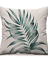 cheap -Northern Europe Fashion Green Plants Linen Pillow Case Cover Living Room Bedroom Sofa Cushion Cover Modern Sample Room Cushion Cover