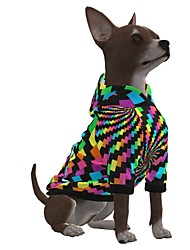 cheap -Dog Hoodie Graphic Optical Illusion 3D Print Ordinary Fashion Casual / Daily Dog Clothes Puppy Clothes Dog Outfits Breathable Rainbow Costume for Girl and Boy Dog Polyster S M L XL
