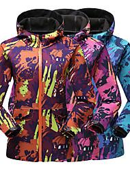 cheap -Women's Ski Jacket Hiking Jacket Warm Winter Snow Coat Mountain Windbreaker Hooded Snowboarding Softshell Jacket Winter Outdoor Camo Windproof Breathable Rain Waterproof Camping Hiking Hunting Ski