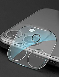 cheap -1PCS Camera Lens Protector For iPhone 12Pormax iPhone 11 Tempered Glass Camera Protector Case Friendly Back Lens Rear Camera Protective Film For iPhone 12 mini iPhone 11promax