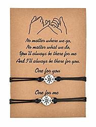 cheap -pinky pomise distance matching bracelets for best friends couple family women mens teen girls handmade braided sunflower bracelet wish jewelry (compass)