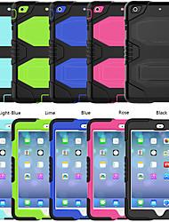 cheap -Case For Apple iPad mini 5 7.9'' iPad mini 1/2/3  7.9'' / iPad mini 4 7.9'' Shockproof Back Cover Solid Colored Silicone / PC