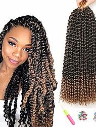 cheap -7 packs passion twist hair 18 inch crochet braids for passion twist crochet hair water wave  passion twist braiding hair extensions (18inch, t1b#27)