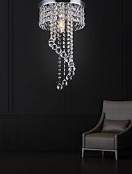 cheap -1-Light 20 cm Crystal Flush Mount Lights Metal Electroplated Modern Contemporary 220-240V / E12 / E14