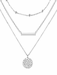 cheap -silver layer choker necklace 3 layer choker necklace for women (3 layer bar necklace)