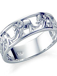 cheap -sz 10 sterling silver 925 elephant migration ring