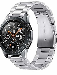 cheap -compatible with samsung galaxy(46mm) strap,22mm solid stainless steel metal replacement bracelet band for galaxy watch sm-r800/r805/galaxy watch 3 45mm smartwatch(silver)