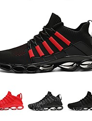 cheap -Men's Trainers Athletic Shoes Athletic Running Shoes Walking Shoes Tissage Volant Black / Red Black Red Fall Spring