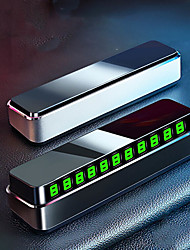 cheap -Baseus Car Phone Number Temporary Parking Card Hidden Luminous Auto Accessories Plates Car Park Stop Multiple Characters