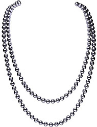 cheap -1920s art deco imitation pearl necklace long pearl necklace great gatsby beads cluster 1920s gatsby jewelry accessories (a-gray)