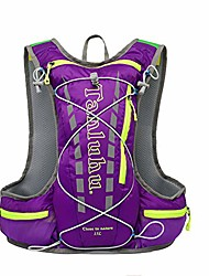 cheap -15l hydration backpack for 2l water bladder, bike backpack, waterproof cycling bicycle rucksack, lightweight running hydration vest pack for hiking, riding, racing and mountaineering (purple)