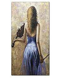 cheap -100% Hand-Painted Contemporary Art Oil Painting On Canvas Modern Paintings Home Interior Decor Abstract Girl Painting Large Canvas Art(Rolled Canvas without Frame)
