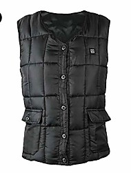 cheap -usb charging electric heated vest electric heated vest body warmer down vest rechargeable infrared thermal waistcoat 3 heat settings