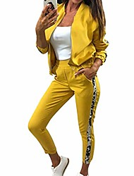 cheap -glitter tracksuit women set autumn two piece set top and pants 2 piece set women outfits sportswear ladies tracksuits yellow