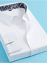 cheap -men's tailored fit non-iron  solid button down dress shirt navy 18.0/34 dap034b