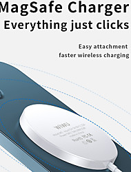 cheap -WIWU Magnetic 15W Qi Wireless Charger Fast Wireless Charging For iPhone 12 12 Mini 12 Pro Max AirPods Pro AppleWatch Series Samsung Galaxy Note 20 S20