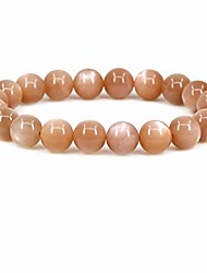 cheap -natural red sunstone gemstone gemstone 10mm round beads stretch bracelet 7 inch