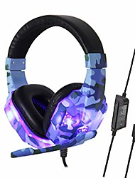 cheap -ouniman army camouflage gaming headset, usb plug wired headphone with adjustable noise cancelling mic & led light, one key mute, compatible with n-switch, ps4, xbox one, laptops, tablet