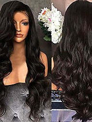 cheap -black misaky brazilian remy synthetic body wave non-lace wig for women