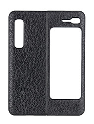 cheap -Phone Case For Samsung Galaxy Back Cover Leather Galaxy Fold W20 5G Shockproof Solid Color Genuine Leather